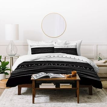 Viviana Gonzalez Black and white collection 01 Duvet Cover