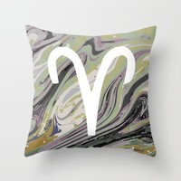 ARIES Throw Pillow by KJ Designs