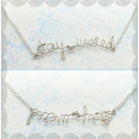 Stay Weird Necklace - Upside Down Novely Jewelry - Funny Necklace