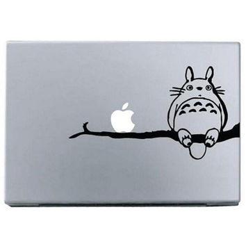 "Black Totoro My Neighbor  DIY MacBook Skin Decal Sticker for Apple Macbook Pro Air Mac 13"" inch Laptop 13 Inch SKI-006"