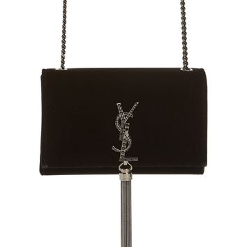 Saint Laurent Small Kate Velvet Crossbody Bag | Nordstrom