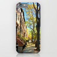 Cobble Hill Brooklyn New York in the Fall, Brownstones iPhone & iPod Case by ANoelleJay