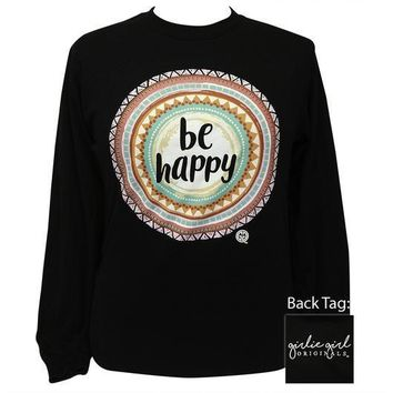 Girlie Girl Originals Be Happy Mandala Long Sleeve T-Shirt