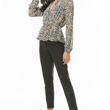 Sheer Chiffon Leopard Print Top