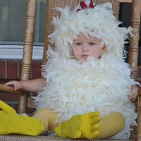 Sale Today Feathered Chicken Halloween Costume Boys/ Girls . Unisex Baby/ Infant /Toddler / Kids Size 0-3m ,3-6m, 6-12m ,12-18m, 8-24 months