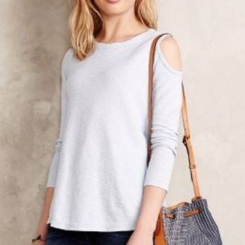 Cold Shoulder Slub Tee