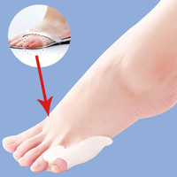 1Pair Foot Gel Little Toe Separator Straighteners Alignment Bunion Pain Relief Feet Health Care Pedicure Velvet Smooth Product