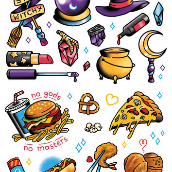 TopatoCo: Witches N' Food Temporary Tattoos!