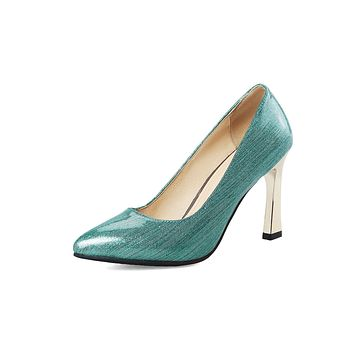 Patent Leather Pointed Toe Pumps High Heeled Shoes 2022