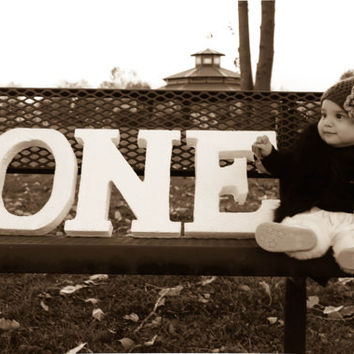 Child's Birthday Photo Prop free standing  Letter ONE Styrofoam Letters Boy and Girl Custom made for number of your choice