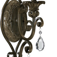 "0-025241>8""w Fulton 1-Light Wall Sconce Cordovan Bronze"