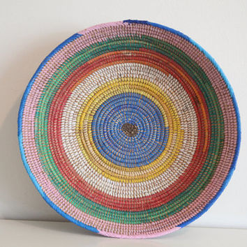 Reserved for ContraryCanary colorful woven basket