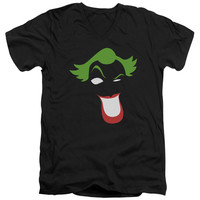 BATMAN/JOKER SIMPLIFIED - S/S ADULT V-NECK - BLACK -