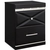 Fancee Two Drawer Night Stand - Black