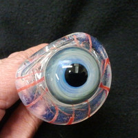 custom color changing eye pipe inside out w/ bloody veins
