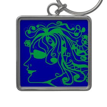 Hippie Keychain from Zazzle.com