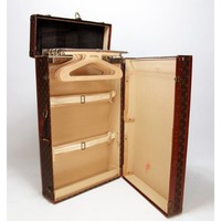 Louis Vuitton Vintage Monogram Standing Wardrobe Garment Trunk PLUS 5 Hangers - Louis Vuitton - Brands | Portero Luxury