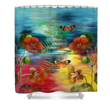 Where Do Dreamers Go Whimsical Art Shower Curtain