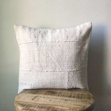 White African Mudcloth Pillow Cover - Custom Made