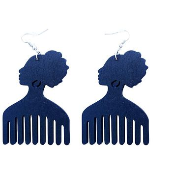 Afro pick earrings | Afro pic earrings (3 colors) | Natural hair | Afrocentric | jewelry | accessory