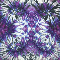 tie dye tapestry or wall hanging purple black