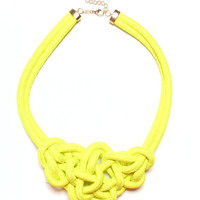 Can You Knot Necklace - Neon Yellow