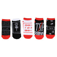 Twenty One Pilots No-Show Socks 5 Pack