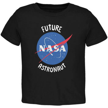 Future NASA Space Astronaut Black Toddler T-Shirt