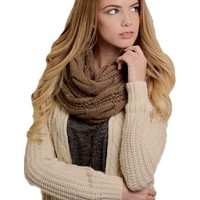 Classic Cable Knit Infinity, Mocha