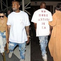 NEW Life of Pablo Kanye West Yeezy Yeezus No More Parties in LA T-Shirt S M L XL
