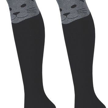Cat Women's Over The Knee Thigh High Socks