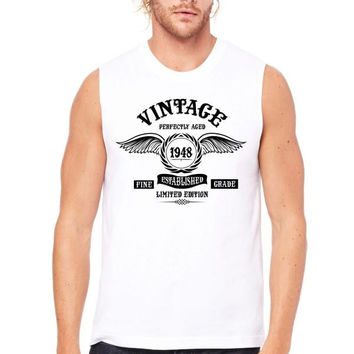 Vintage Perfectly Aged 1948 Muscle Tank