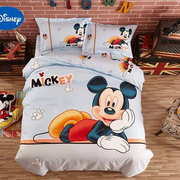 Cute Disney Mickey Mouse 3D Covers Bedding Sets Boys Child Bedspreads Polyester Woven Bedroom Decor Single Twin Full Queen Size