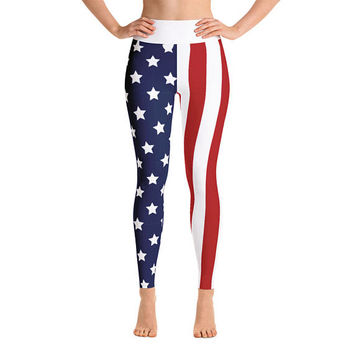 Fourth Of July Yoga leggings