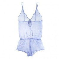 Buy Beautiful Bottoms luxury lingerie - Beautiful Bottoms Bluebird Drop Back Playsuit  | Journelle Fine Lingerie