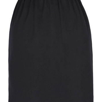Satin Waist Slip Half Slip Retro Vintage Women Black Skirt Slips Women's Vacation Saia Faldas Pencil Skirt Elegant OL Work Wear