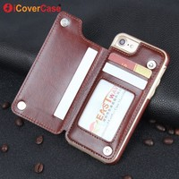 For iPhone 5 5S SE 6 6S 7 Plus Case Cover Fundas Coque Capa Hoesjes Etui Phone Accessory 6plus 7plus Flip Leather Stand Wallet
