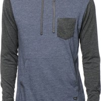 RVCA Set Up Long Sleeve Hooded Pocket Shirt