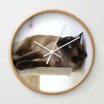 What's Up? Wall Clock by Theresa Campbell D'August Art
