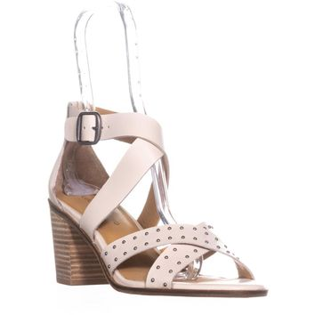 Lucky Brand Kesey Buckle Strappy Sandals, Sandshell, 7.5 US / 37.5 EU