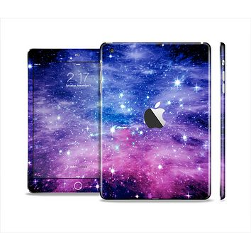 The Purple and Blue Scattered Stars Full Body Skin Set for the Apple iPad Mini 2