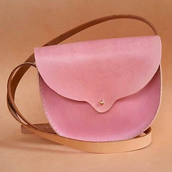 Hand Stitched Small Persephone Leather Bag in Quebracho