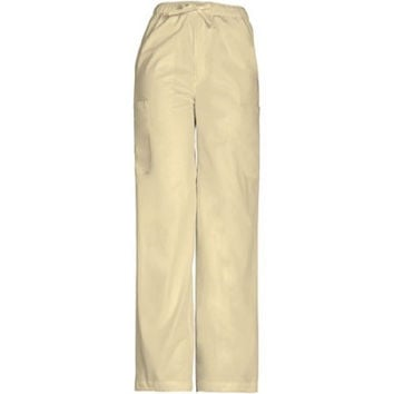 ScrubStar Women's Stretch Drawstring Cargo Scrub Pants, 2XL, Khaki, 77946