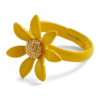 Ms. Golden Sunflower Ring | Mod Retro Vintage Rings | ModCloth.com