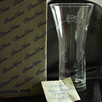 Princess House 475 Crystal Vase Heritage Original Box Paperwork