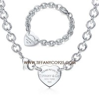 Shopping Cheap Return to Tiffany Heart Tag Charm necklace and Bracelet Silver S At Tiffanyco925.com - Discount Tiffany Setting