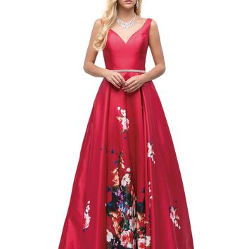 Floral Print Dress & Evening Gown  DQ9920