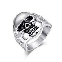 2016 Titanium Steel Rings Finger Punk Style Expendables Skull 316L Stainless Steel For Men Ring Party