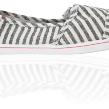 Roxy Girls Pier Black & White Stripe Shoes
