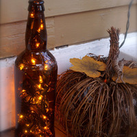 Autumn Decor Lights in Glass Bottle